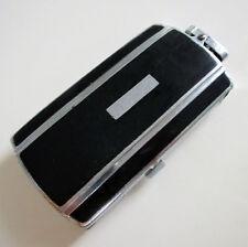 Art Deco Genuine Ronson Black Enamel Cigarette Lighter Combination Case Vintage