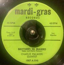 CHARLIE PALMIERI 45 Brothers In Mambo MARDI GRAS original Latin Jazz MP3
