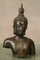 Buste de Bouddha en bronze patine médaille Cambodge Birmanie...