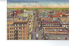 Post Card - EL PASO TX - ca 1939 - San Antonio St. EAST - Postally Used in 1946