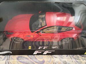 Hot Wheels Elite Ferrari FF rossa red 2011 1/18 W1105 168818