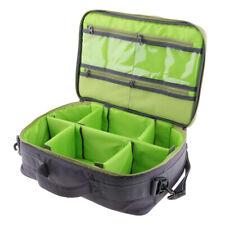 Large Fishing Tackle Reel Bag Case Shoulder Strap Gear Storage 6 Dividers