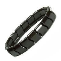 Authentic Power Ionic Health Ion Tourmaline Beads Stretch Bracelet Black Unisex2