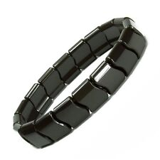Authentic Power Ionic Health Ion Tourmaline Beads Stretch Bracelet Black Unisex2