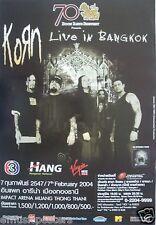 Korn 2004 Bangkok, Thailand Original Concert Tour Poster - Alt Metal Music