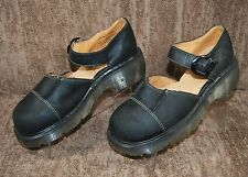 DR. MARTENS Mary Janes Leather Shoes Black Women's 8 M  6 UK Made in England