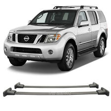 Fit For 05-12 Nissan Pathfinder Black Top Roof Rack Rail Cross Bar Mounting ACCE
