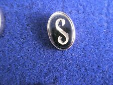 Lapel Pin Father's Day gift S Initials Monogram Letter Font Vintage