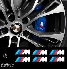 6x BMW ///M Aufkleber für Bremssättel Vinyl Emblem Logo Set für Ihren BMW