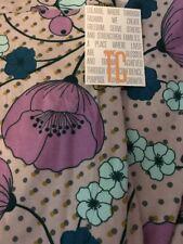 Lularoe TC Tall Curvy Leggings Gray Purple Floral Polka Dots Unicorn New 🦄