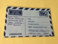 Austria Used Aerogramme Stamps cover  Ref 53780
