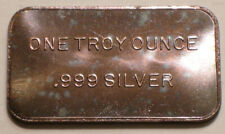 ONE TROY OUNCE .999 Fine 1 oz SILVER Ingot RAINBOW Tones