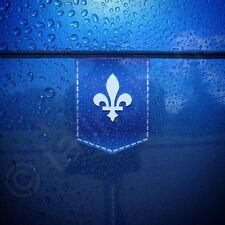 "Fleur de lis sticker - 1 3/8"" x 1 3/4"" - car decal French emblem France badge"