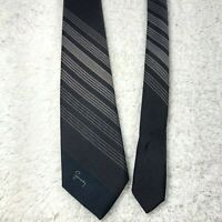 Givenchy Mens Neck Tie Blue Red Stripes