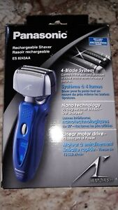 Panasonic ES8243AA 4-Blade Men's Electric Shaver and Trimmer - Blue