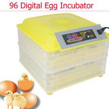 96 Digital Clear Egg Incubator Hatcher Automatic Egg Turning Temperature Control