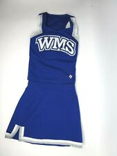 """Wms Youth Teen Cheerleader Uniform Outfit Costume 30 Top 25"""" Skirt Royal Blue"""