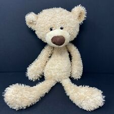Gund Toothpick Bear Plush Tan Skinny Long Legs Arm Big Head Brown Corduroy Nose