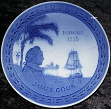 "ROYAL COPENHAGEN GEDENKTELLER ""JAMES COOK HAWAII 1778"" Bing Grondahl"