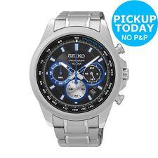 Seiko Mens Sports Chronograph Stainless Steel Bracelet Watch.