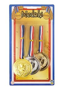 Gold Winners MEDAL Olympic Kids Medals Ideal Party Bag SPORTS DAY Silver Bronze