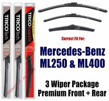 Wiper Blades 3-Pack Front Rear fit 2015 Mercedes-Benz ML250 ML400 19260/220/12J