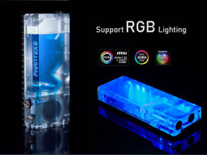 Computer water cooled 160ml flat water tank RGB light control support DDC pump