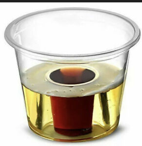 1000 Jager Bomb Shot Glasses Plastic Disposable Party Bbq Shots Cups 25ml + 60ml