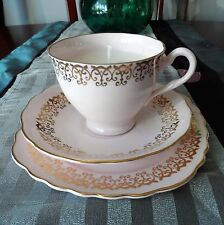 Vintage Bone China Trio ~ Tea Cup Soy Wax Candle ~ Shabby Chic