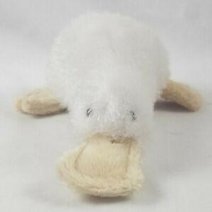 "Ganz Webkinz Lil Kinz Googles Plush White Platypus No Tag or Code 8"" HS021"