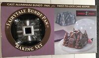 NORDIC WARE Fairytale Cottage Bundt Pan Baking Mold Kit w Cake Keeper