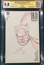 FRANK MILLER ORIGINAL Sketch Art CGC 9.8 BATMAN Signed DK III Master Race #1