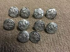 """Lot of 10 UNIFORM BUTTONS PENNSYLVANIA STATE SEAL Superior Quality 7/8"""" NOS"""