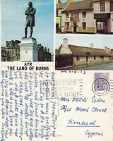 1973 MULTI VIEWS OF ALLOWAY AYR AYRSHIRE SCOTLAND COLOUR POSTCARD