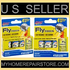 8 / $ 8 — 2 PACKS OF 4 — PIC FLY RIBBON — FLYING INSECT — GLUE STRIP — BUG TRAP