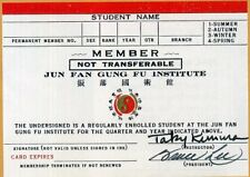 BRUCE LEE & TAKY KIMURA Signed Card - KUNG FU Champion and Actor - preprint