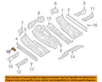 AUDI OEM 09-16 A4 Quattro Floor Rails-Jacking Bracket 8K0802247B