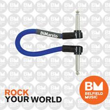 """Dimarzio 6 Inch Patch Pedal Cable Lead EP706EB 6"""" Electric Blue Di-Marzio"""