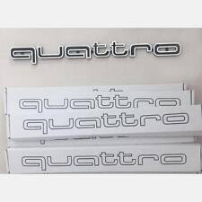 Schwarz Audi QUATTRO Grill Badge Logo Embleme RS4 A4 A6 A8 S3 S6 Q5 Q7 SQ5 TT R8