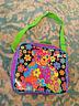 Lisa Frank blossom Bear Flowers 90s Rainbow Lunchbag Hippie Vintage Bag purse
