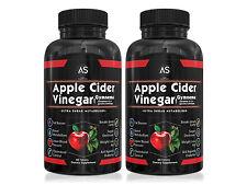 Angry Supplements Apple Cider Vinegar w. Garcinia Cambogia, 2-Bottle 60-Day BOGO