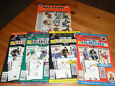 5x NHL Hockey Colorstars Series 1 2 3 4 + Colouring Album Gretzky Roy 1994 Dr. O