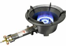 High Pressure 80MJ LP Gas Wok Burner Cooker Stove DualRing ControlHose&Regulator