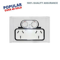 Saturn Double Power Point GPO Glass Crystal Clipsal Compatible