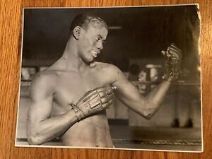 Clean Original 1920s, Kid Chocolate Type 1 Boxing Photo Mint P4P Great