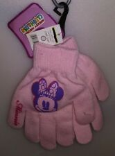 DISNEY  1 PAIR KIDS KNIT GLOVES DISNEY MINNIE MOUSE 1 SIZE PINK A-4
