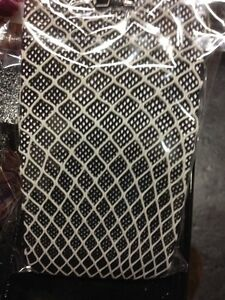 Gothic Goth Black & Grey Double Layer Fishnet Tights Small/Med Halloween