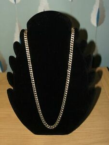 BEAUTIFUL VINTAGE GOLD-TONE LINK CHAIN MONET JEWELLERY NECKLACE