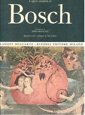 BOSCH L'OPERA COMPLETA RIZZOLI 1966 CLASSICI DELL'ARTE 2 PITTURA BUZZATI