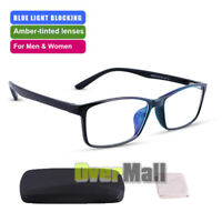 Square Anti Blue Light Filter Blocking Computer Glasses UV Eyestrain+Storage Box